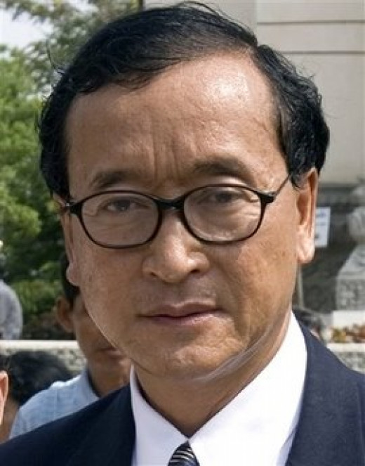 Sam Rainsy, Cambodia National Rescue Party opposition leader