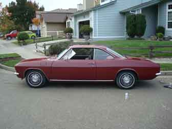 A 1967 Corvair Coupe bought for only $900, runs great.
