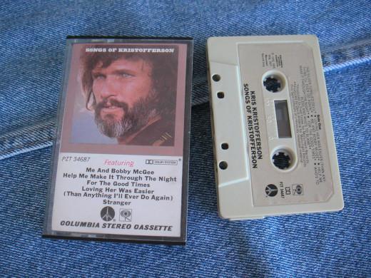 Songs of Kristofferson Cassette Tape