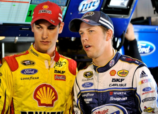 Logano and Keselowski are teammates with vastly different records at Kansas