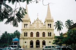 The front view of St. basilica church, fort Kochi.
