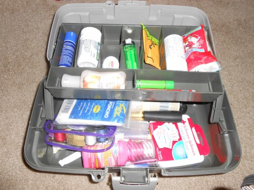 A handy dandy compartment with plenty of room, this tackle box can easily hold over 20 items.