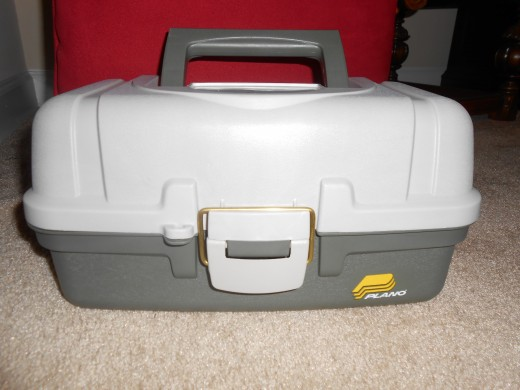 I usually store my tackle box in the trunk, but if you don't want to have to exit the car to get what you need, it can easily be stored in the back seat or front passenger side floor. It doesn't take up much space.