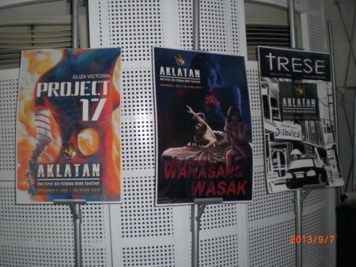 "All-Filipino Book Festival | Covers of newly released books (L-R) ""Project 17"" by Eliza Victoria, sci-fi novel;  ""Wakasang Wasak"" by Carlos Malvar, short stories; and ""Trese: Stories From the Diabolical Vol. 1"" by Budjette Tan and KaJo Baldisimo."