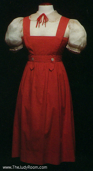 This dress was designed for the movie, but was cast out as being too flashy for a farm girl.