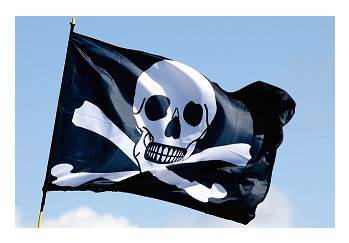 "This pirate flag is often mistaken as the ""Jolly Roger"""