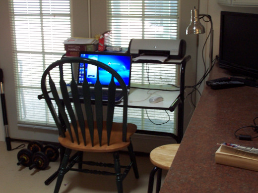 A freelance writer's kingdom and business office