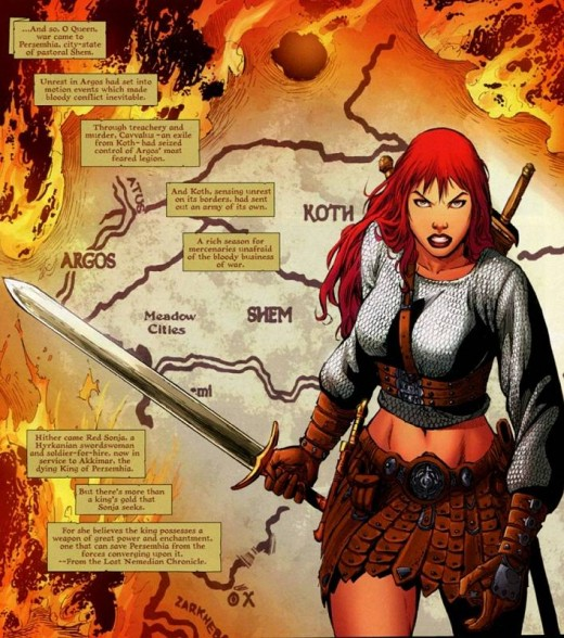 Red Sonja Chain Mail Shirt and Leather Dress