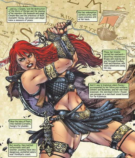 Red Sonja Leather Skirt Armor