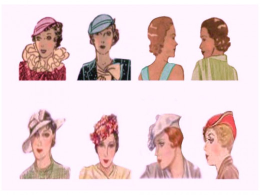 Hats and hair styles of 1933