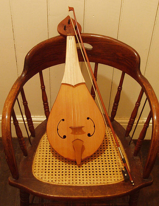 Rebec, a Medieval fiddle