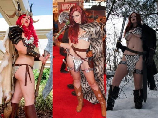 Winter Red Sonja Cosplay Costumes
