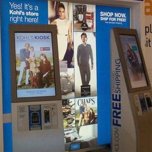 In store  Online Style kiosks with smart apps provide the services offered online to shoppers within stores. Bigger screens mean greater power for displaying what customers want.