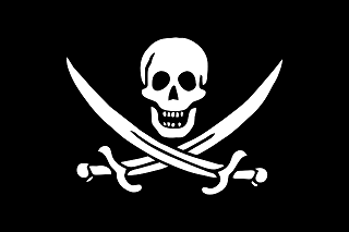 Calico Jack Rackham was known to have flown this flag.