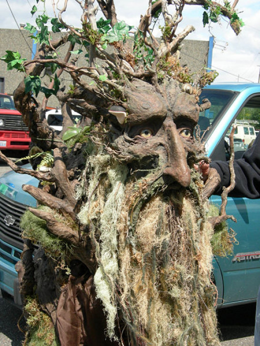 The ENTs from 'Lord of the Ring' are delightful beings that moved, but when they slow down they become rooted to the ground and appear to children to be dead