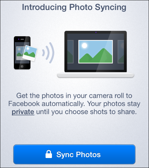 Facebook photo sync for iPhone and Android
