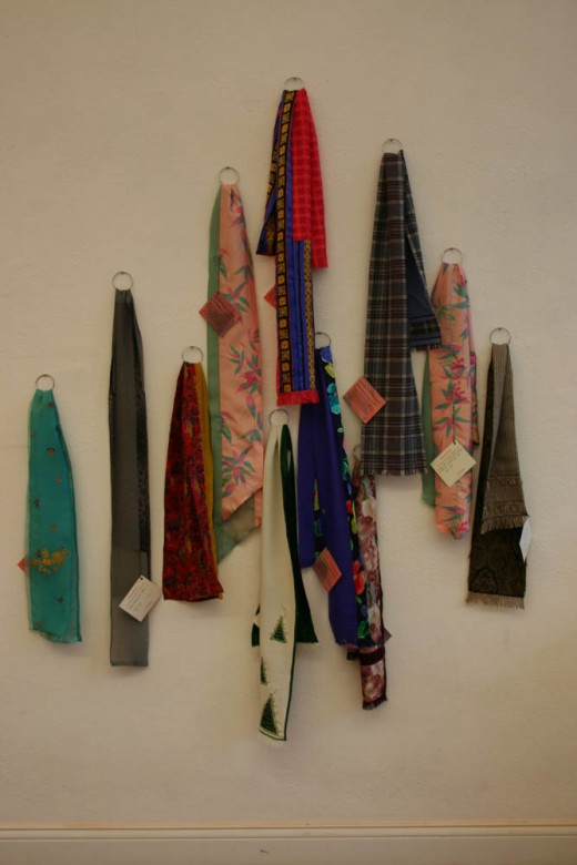 Vintage Scarfs - Wall hung for effect