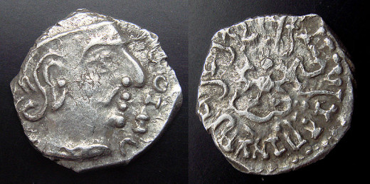 The coins of Chandragupta || minted in western India.