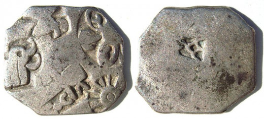 The coins of the Mauryan Age.