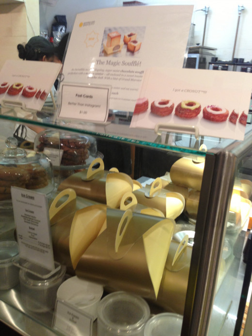 Cronuts come in these pretty golden boxes