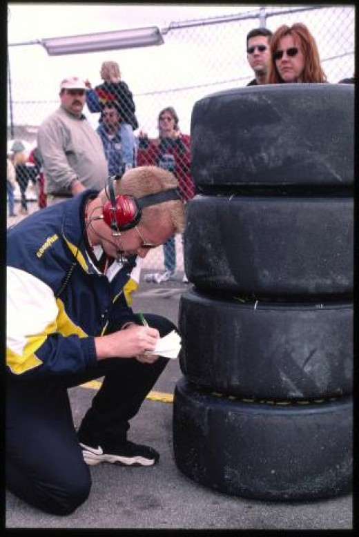 Goodyear tire engineers accompany their products to the track to learn what worked and what didn't.