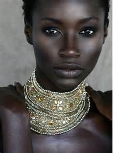 Black skin African female