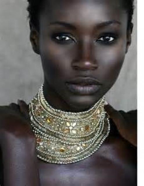 Black skin African female