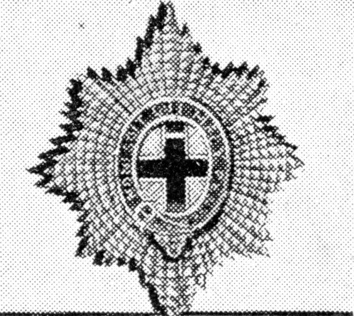The Star of the Order of the Garter in silver. Formed by Oliver Cromwell in 1650. The regiment's motto is 'Nulli Secundus'.