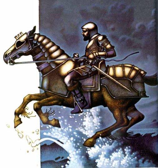 Manannan mac Lir, husband of Fand, who was rescued from the raiding Fomorii by Cuchulainn