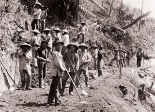 Chinese workings on the Transcontinental Railroad.