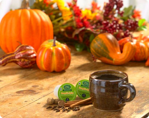 Try Green Mountain Pumpkin Spice coffee k-cups for Keurig coffee makers.