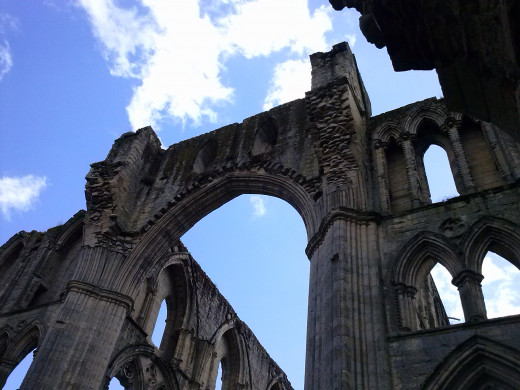 Rievaulx Abbey near Helmsley in the North York Moors National Park, once one of the wealthiest monasteries in Britain