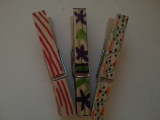 You can decorate your clothespins any way you like!