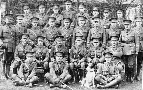 Officers of the 13th Battalion Royal Welsh Fusiliers.