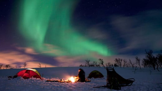 Camping on Northern Light