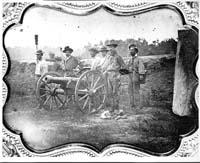 Kansas Free State Militia artillerymen circa 1854