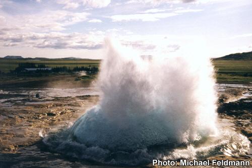Strokkur Geyser ,Iceland.
