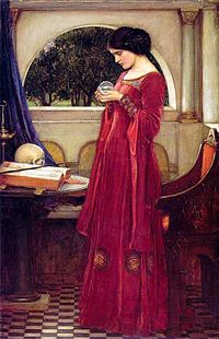 John William Waterhouse - The Crystal Ball (1902, oil on canvas)Category:John William WaterhouseCategory:Magic