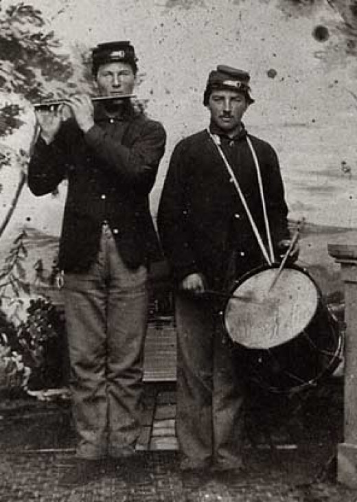 A Fifer and Drummer, the Company's field music