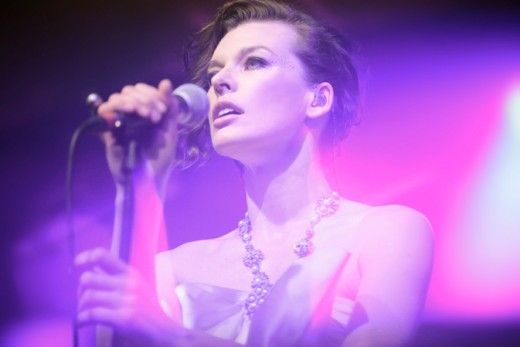 Milla Jovovich Performing
