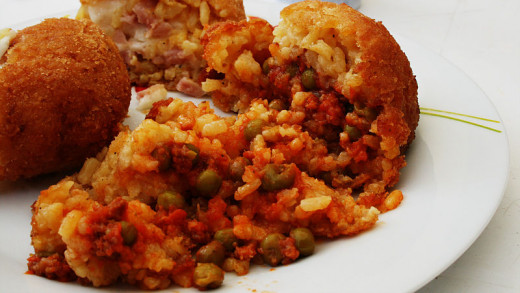 arancini balls can be filled with a delightful array of healthy ingredients