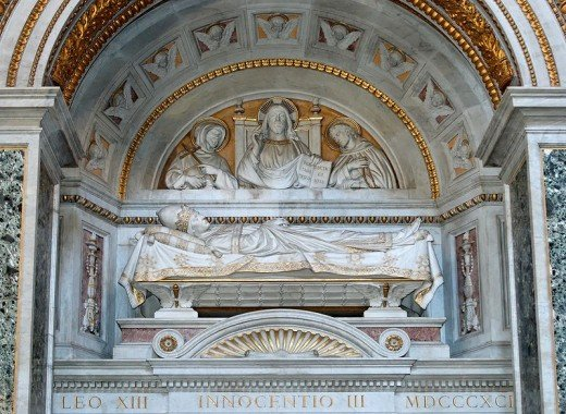 The tomb of Pope Innocent III
