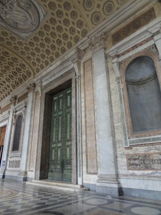 The bronze doors of the Curia Julia