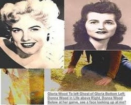 These are two sister ghosts Donna & Gloria Wood. In fact, Gloria Wood  sang the voice over for the son of Lucille Ball's character in the movie Mame, the little boy.