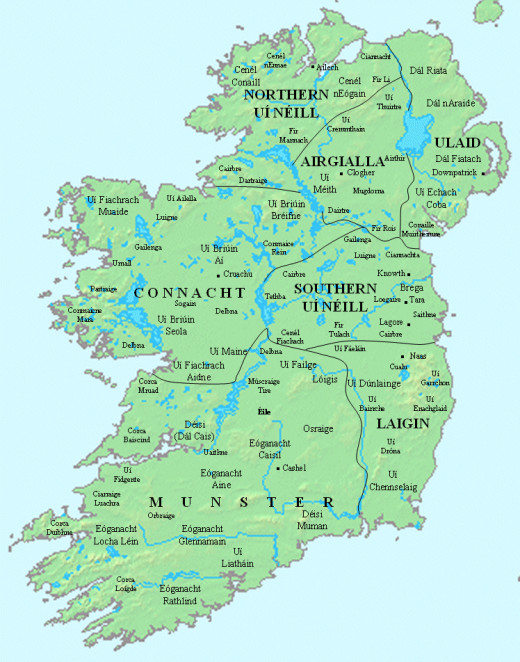 The early kingdoms of Ireland - a polyglot of sometimes conflicting interests in the same vein as mainland Britain