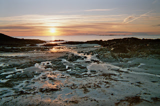 Irish shore in the evening - like the old stories, full of surprises, twists and turns