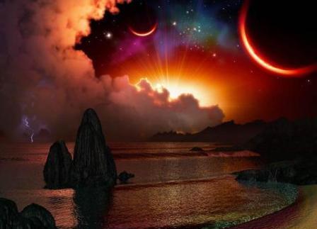 Immram, a fantastical, long sea crossing to an unknown island kingdom...