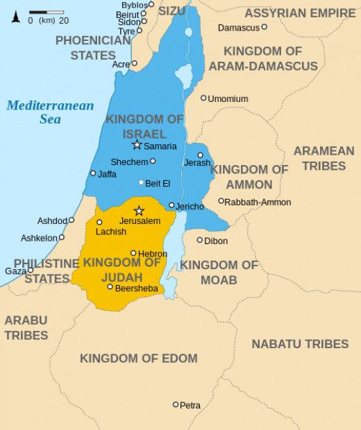Kingdom of Judah is where Jerusalem and Hebron is located