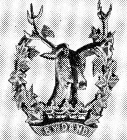 The Gordon Highlanders' Badge. 75th and 92nd Foot. Crest of Marquis of Huntly. At Waterloo they charges with the Scots Greys clinging to the stirrups.