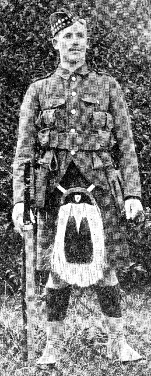 Private of the 1st Gordon Highlanders in campaign kit.